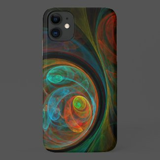 Rebirth Blue Abstract Art Case-Mate iPhone Case