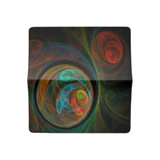 Rebirth Blue Abstract Art Checkbook Cover