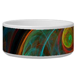 Rebirth Blue Abstract Art Dog Bowl