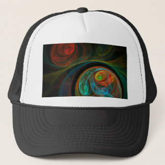 Rebirth Blue Abstract Art Hat