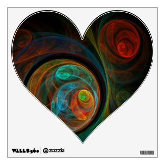 Rebirth Blue Abstract Art Heart Room Stickers