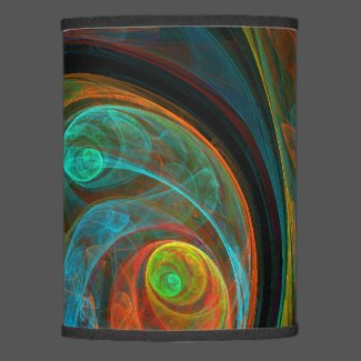 Rebirth Blue Abstract Art Lamp Shade