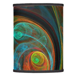 Rebirth Blue Abstract Art Lamp Shade