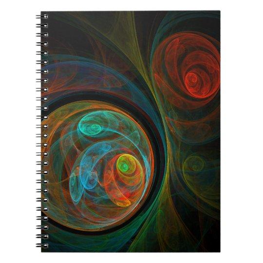 Rebirth Blue Abstract Art Notebook