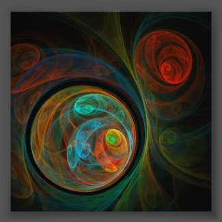 Rebirth Blue Abstract Art Photo Print