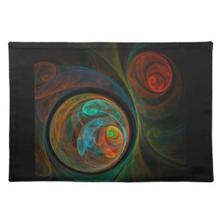 Rebirth Blue Abstract Art Placemat Cloth Placemat