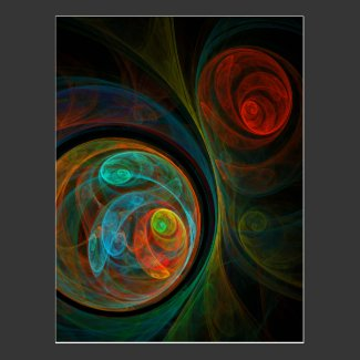Rebirth Blue Abstract Art Postcard