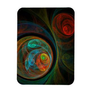 Rebirth Blue Abstract Art Premium Magnet