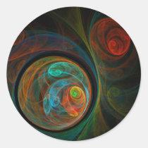 rebirth, abstract, art, round, sticker, Sticker with custom graphic design