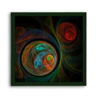 Rebirth Blue Abstract Art Square Envelope