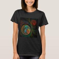 Rebirth Blue Abstract Art T-Shirt