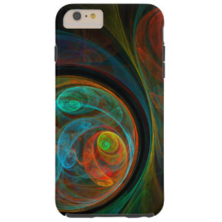 Rebirth Blue Abstract Art Tough iPhone 6 Plus Case