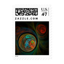 abstract, art, abstracts, fine art, graphic art, digital art, cool, custom, design, artist, artistic, abstract art, prints, designs, designer, gift, gifts, color, fractal, fractal art, painting, colorful, creative, organic, dream, unique art, nature, postage, stamp, stamps, print, Stamp with custom graphic design
