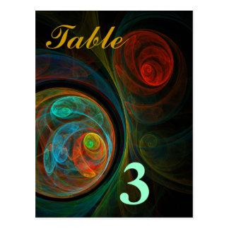Rebirth Blue Table Number Postcard