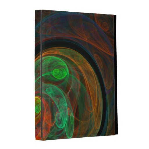 Rebirth Green Abstract Art iPad Folio Covers