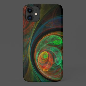 Rebirth Green Abstract Art Case-Mate iPhone Case