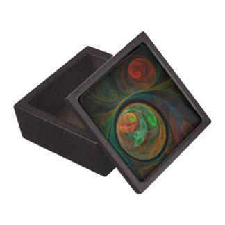 Rebirth Green Abstract Art Gift Box Premium Gift Boxes