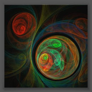 Rebirth Green Abstract Art Photo Print