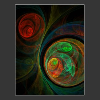 Rebirth Green Abstract Art Postcard
