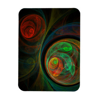 Rebirth Green Abstract Art Premium Magnet