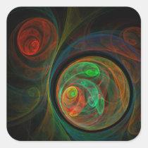 rebirth, abstract, art, square, sticker, Sticker with custom graphic design