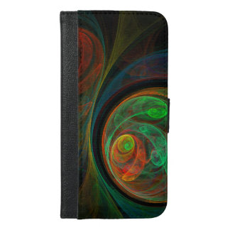 Rebirth Green Abstract Art Wallet Case