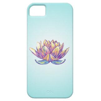 Rebirth Lotus iPhone Case Aqua