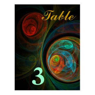 Rebirth Table Number Postcard