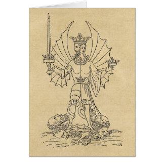 Rebis King & Queen Card