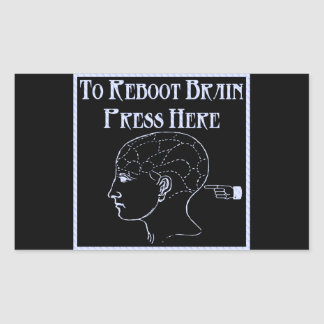 Reboot Brain Rectangular Sticker