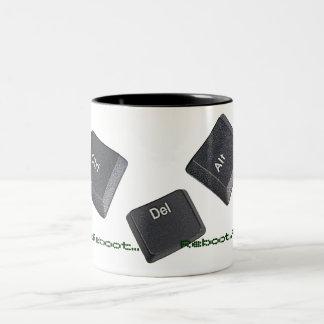 Reboot Computer Keys Two-Tone Coffee Mug