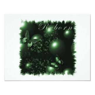 Reborn Butterflies Christian Art Green Card