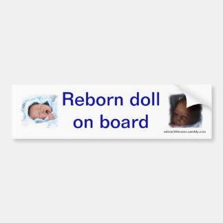 Reborn doll on board bumpsticker bumper sticker