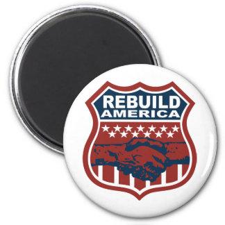 REBUILD AMERICA REFRIGERATOR MAGNETS
