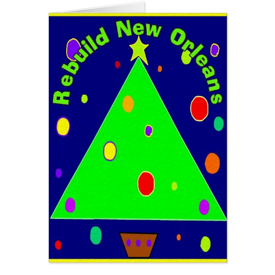Rebuild New orleans Christmas CArds
