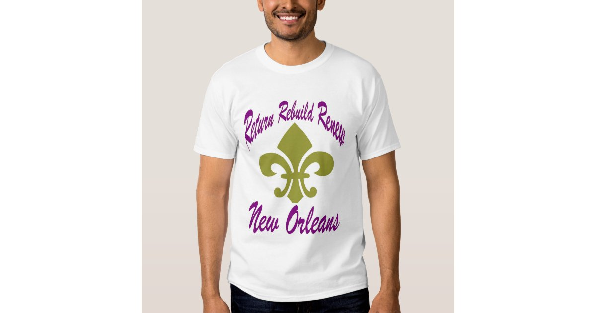 Rebuild new orleans t shirt zazzle for T shirt printing new orleans