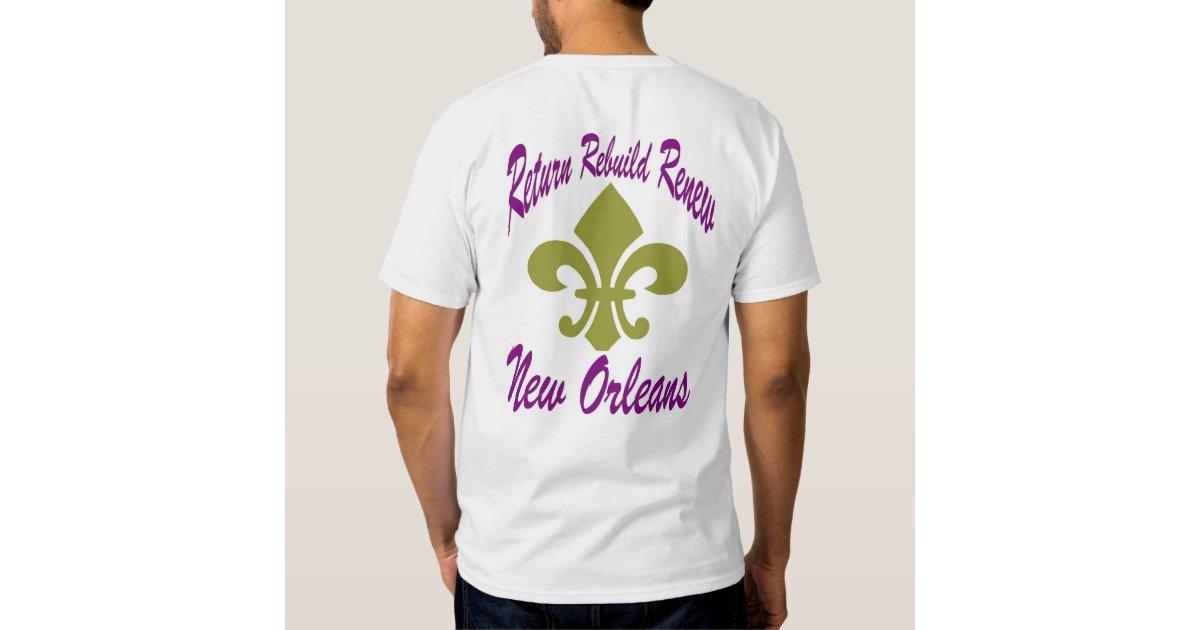 Rebuild New Orleans T Shirt Zazzle
