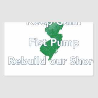 Rebuild the Jersey Shore Rectangular Sticker