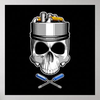 Rebuilder Vape Skull Poster