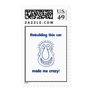 Rebuilding An Old Car Postage Stamp