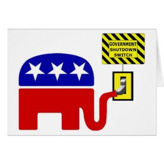 Rebuplican Government Shutdown 2011 Card