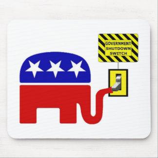 Rebuplican Government Shutdown 2011 Mouse Pad