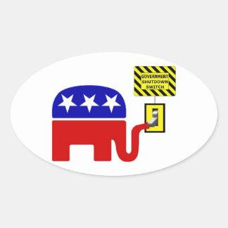 Rebuplican Government Shutdown 2011 Oval Sticker