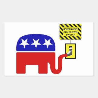 Rebuplican Government Shutdown 2011 Rectangular Sticker