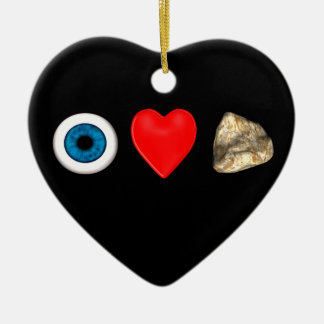 Rebus For Physicists Double-Sided Heart Ceramic Christmas Ornament
