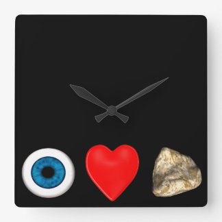 Rebus For Physicists Square Wall Clock
