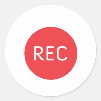 REC ROUND STICKER