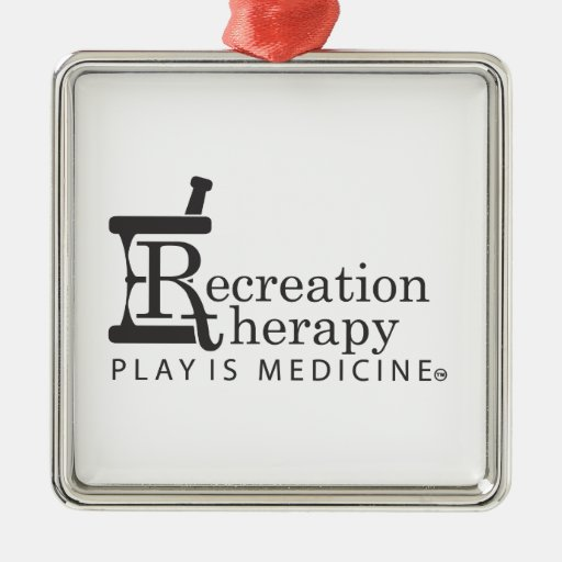 Rec. Therapy gear Square Metal Christmas Ornament