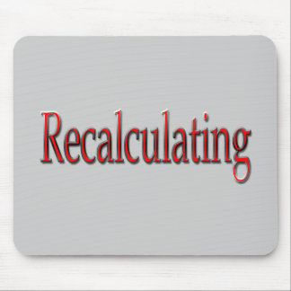 Recalculating red mouse pad