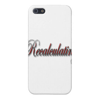 Recalculating red script iPhone SE/5/5s cover